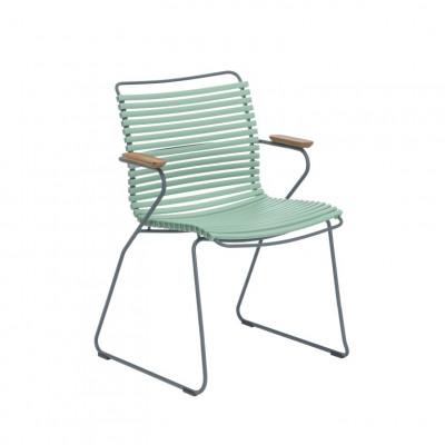 Gartenstuhl mit Armlehnen Click | Staubiges Grün