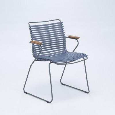 Gartenstuhl mit Armlehnen Click | Taubenblau
