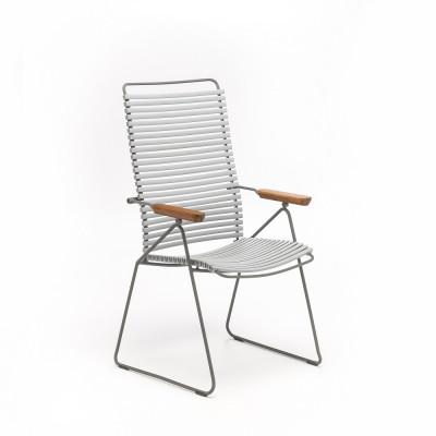Gartenstuhl mit verstellbarer Rückenlehne Click Position | Grau