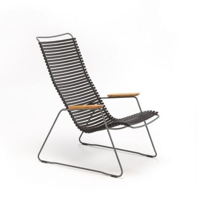 Garten-Lounge-Stuhl Click | Schwarz