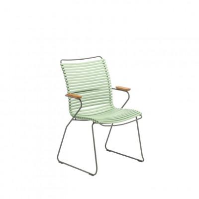 Gartenstuhl mit hoher Rückenlehne Click | Staubiges Grün