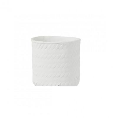 Blumentopf gewebter Zement   Weiß