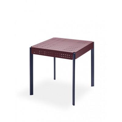 Outdoor Table Gerda 75 | Dark Red & Dark Blue
