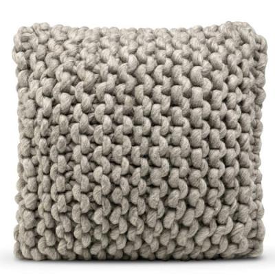 Kissenbezug Wolle - 50 x 50 cm | Dunkelgrau