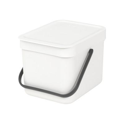 Mülleimer Sort & Go 6 L   Weiß