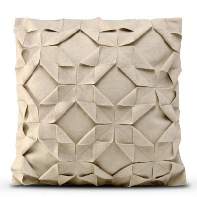 Kissenbezug 50 x 50 cm Origami Filz | Beige