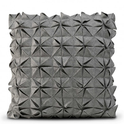 Kissenbezug 50 x 50 cm Geo Filz | Grau