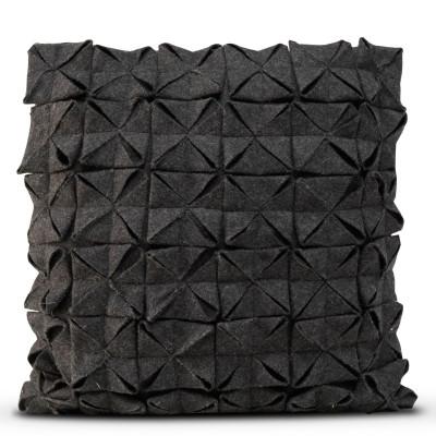 Kissenbezug 50 x 50 cm Geo Filz | Schwarz