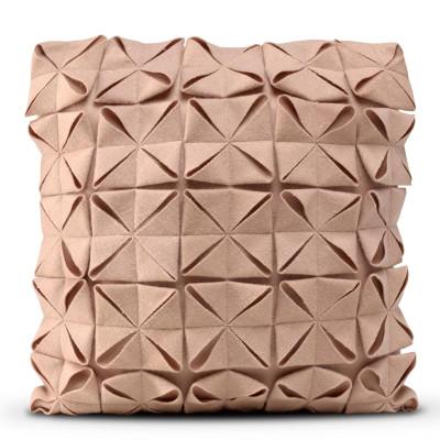 Kissenbezug 50 x 50 cm Geo Filz | Rosé