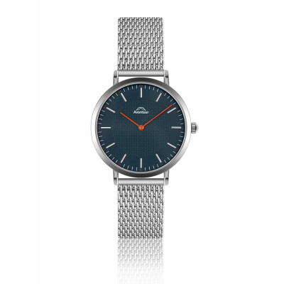 Männeruhr Etna Classic | Silber & Ocean Blue