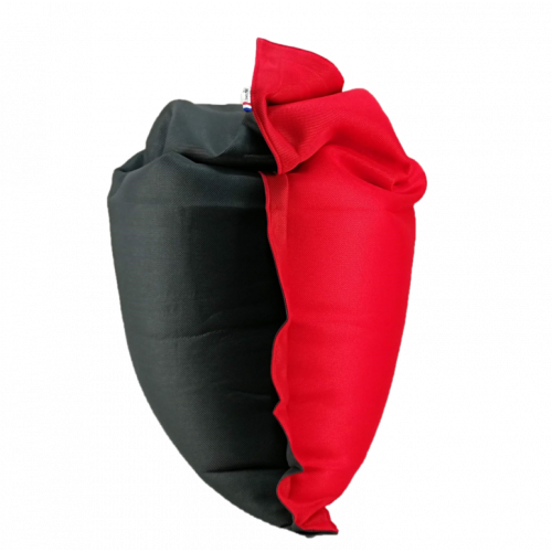 Pouf Complete 175 x 125 cm | Anthracite + Rouge