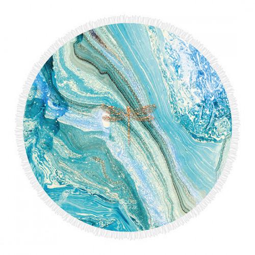 Roundie Strandtuch Marmorlibelle