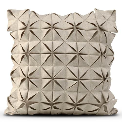 Cushion Cover 50 x 50 cm Geo Felt | Beige