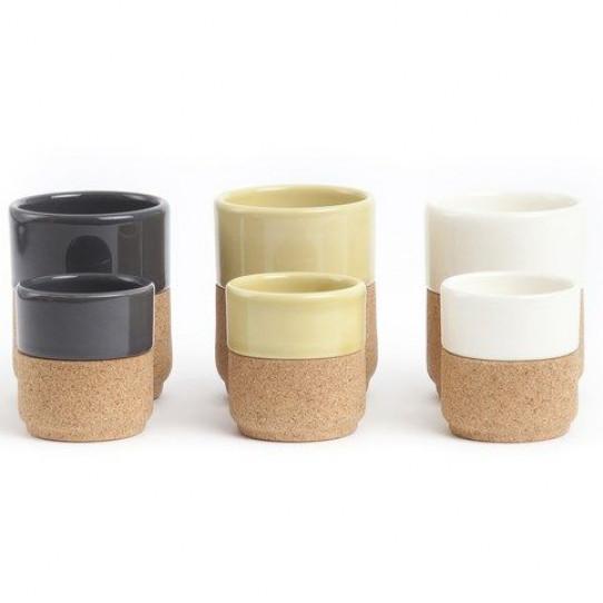A Set of 2 cups dark grey