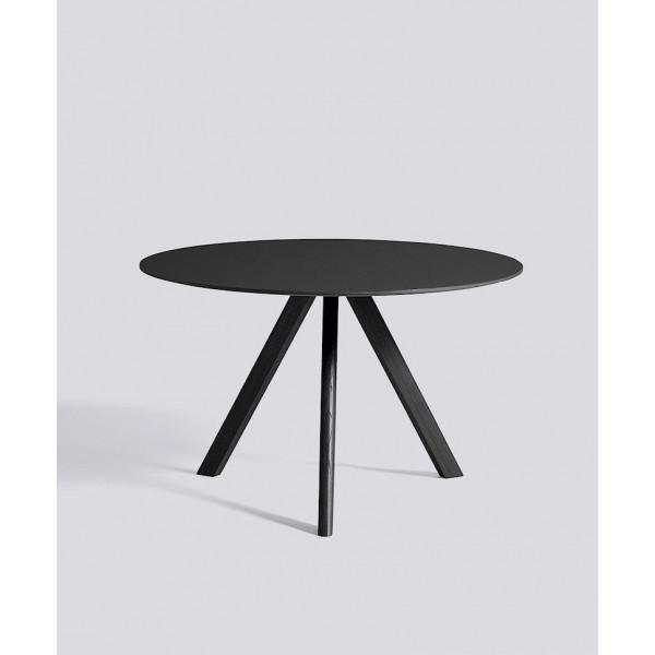 Copenhague Round Dining Table CPH20   Schwarzes Linoleum