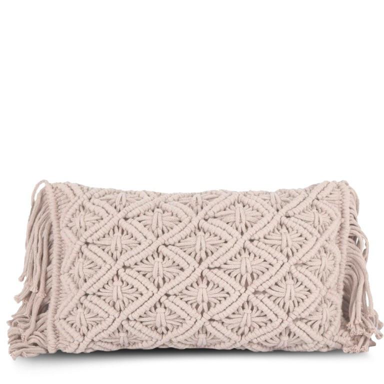 Cushion Cover 50 x 30 cm Macrame | Pale Rose