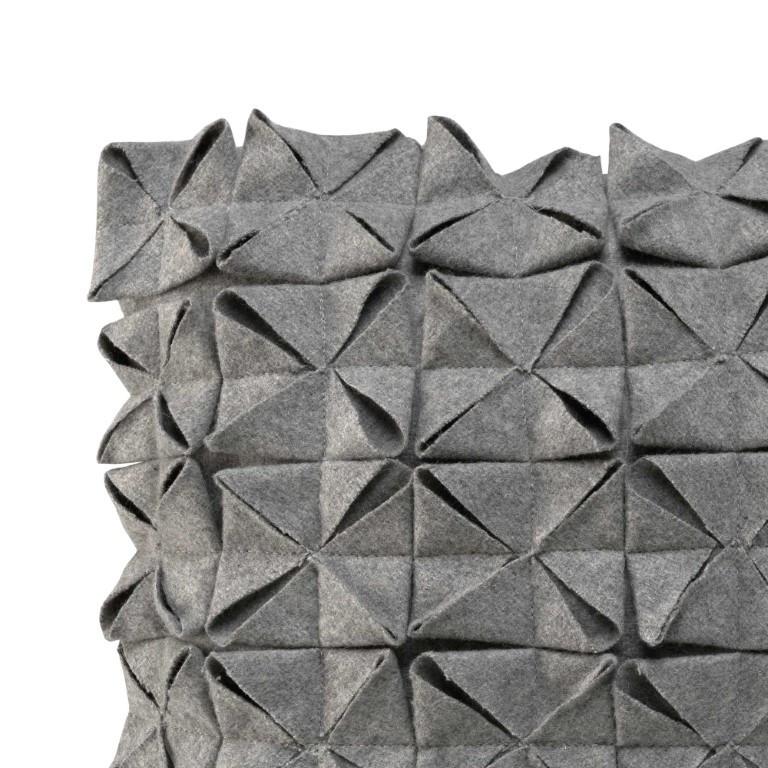 Kussenhoes 50 x 50 cm Geo Felt | Grijs