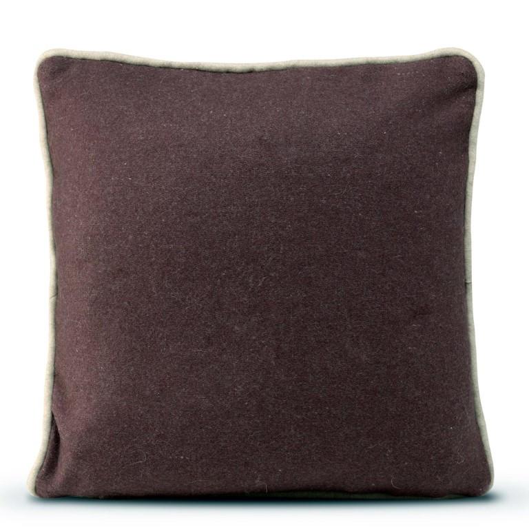 Cushion Cover 50 x 50 cm Piping Felt   Burgundy