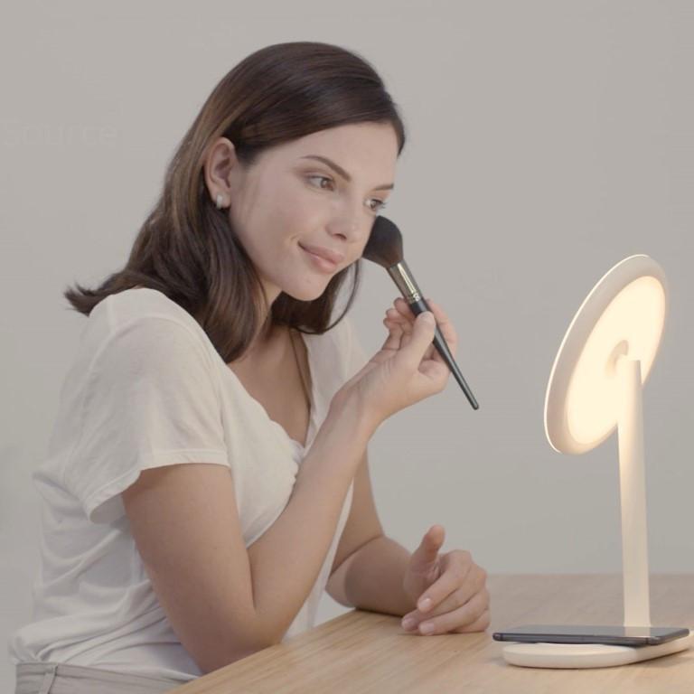 Make-up-Spiegel mit drahtlosem Ladegerät f200   Pink