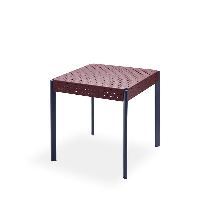 Outdoor-Tisch Gerda 75 | Dunkelrot & Dunkelblau