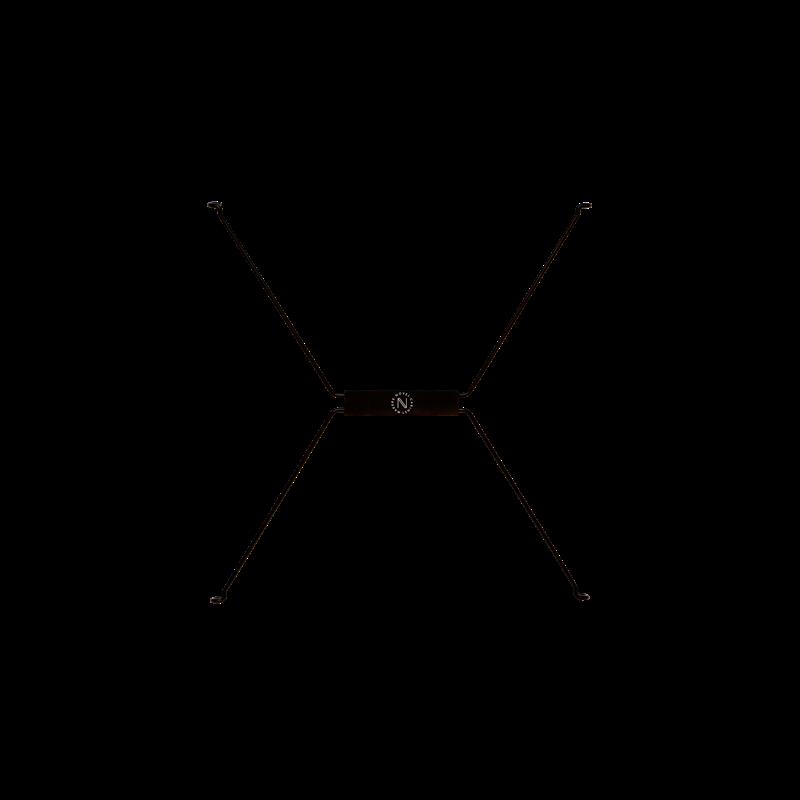 Lagerregalsystem Niedrig   Weiß/Schwarz