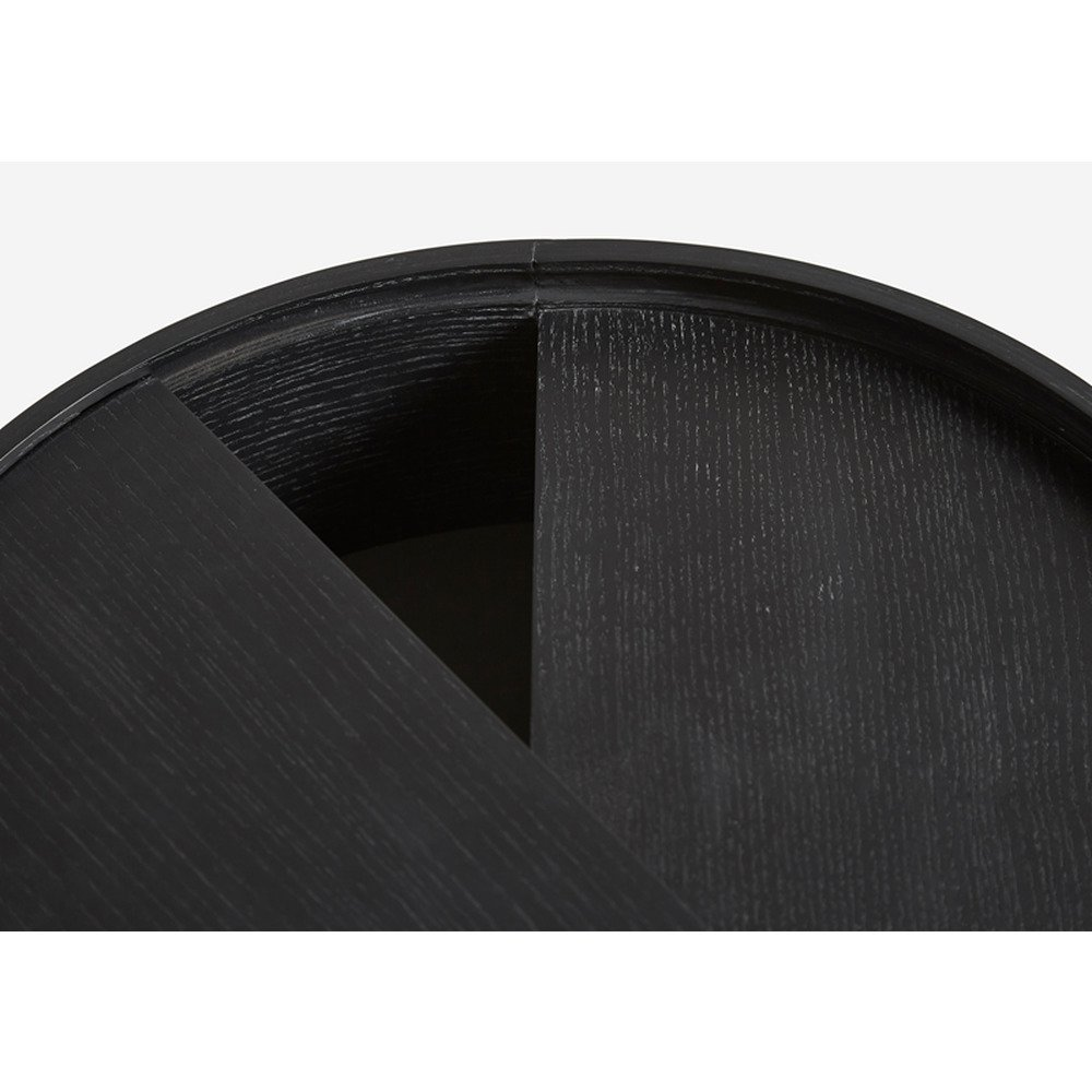 Side Table Arc   Black Painted Ash Wood Small