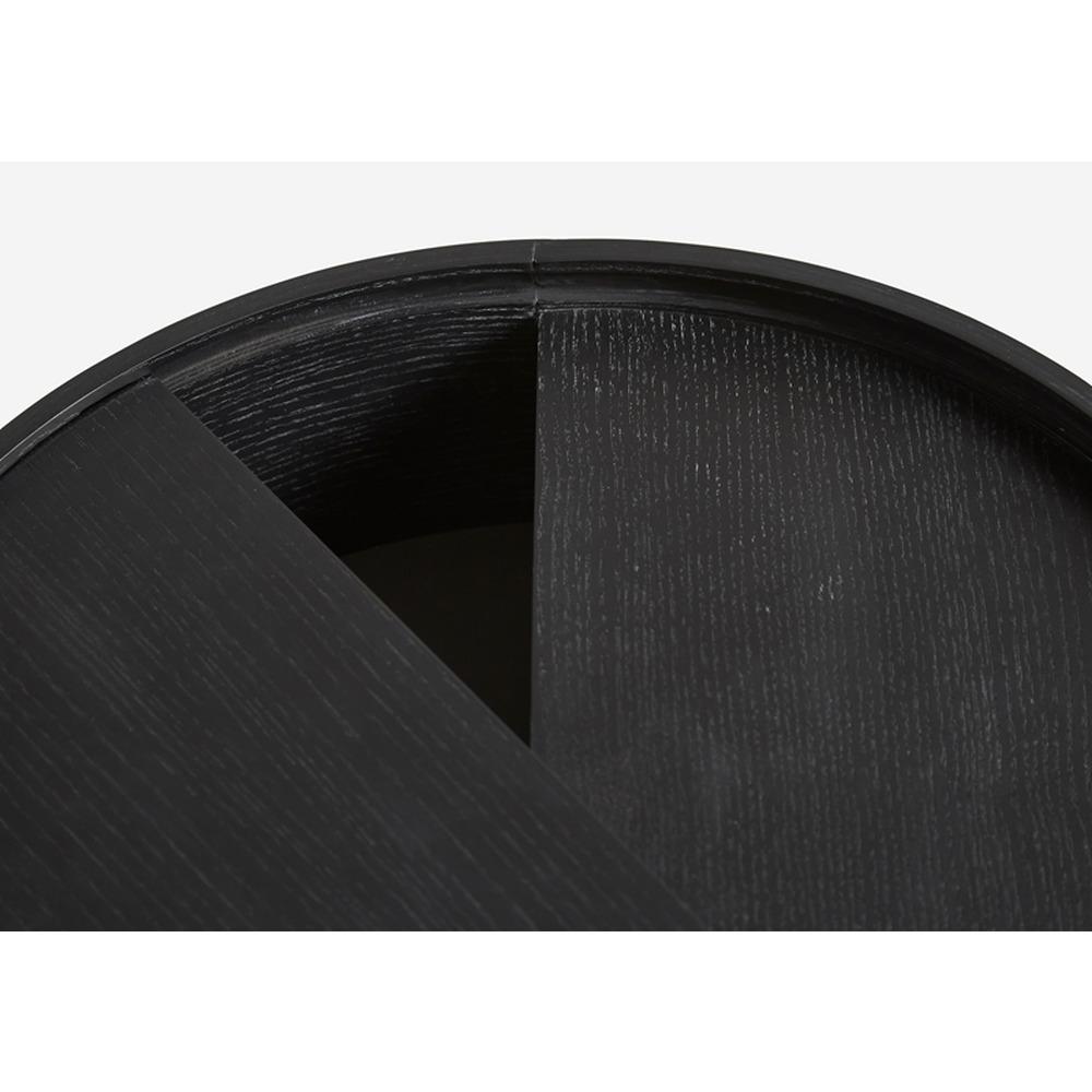 Coffee Table Arc | Black Painted Ash Wood Medium
