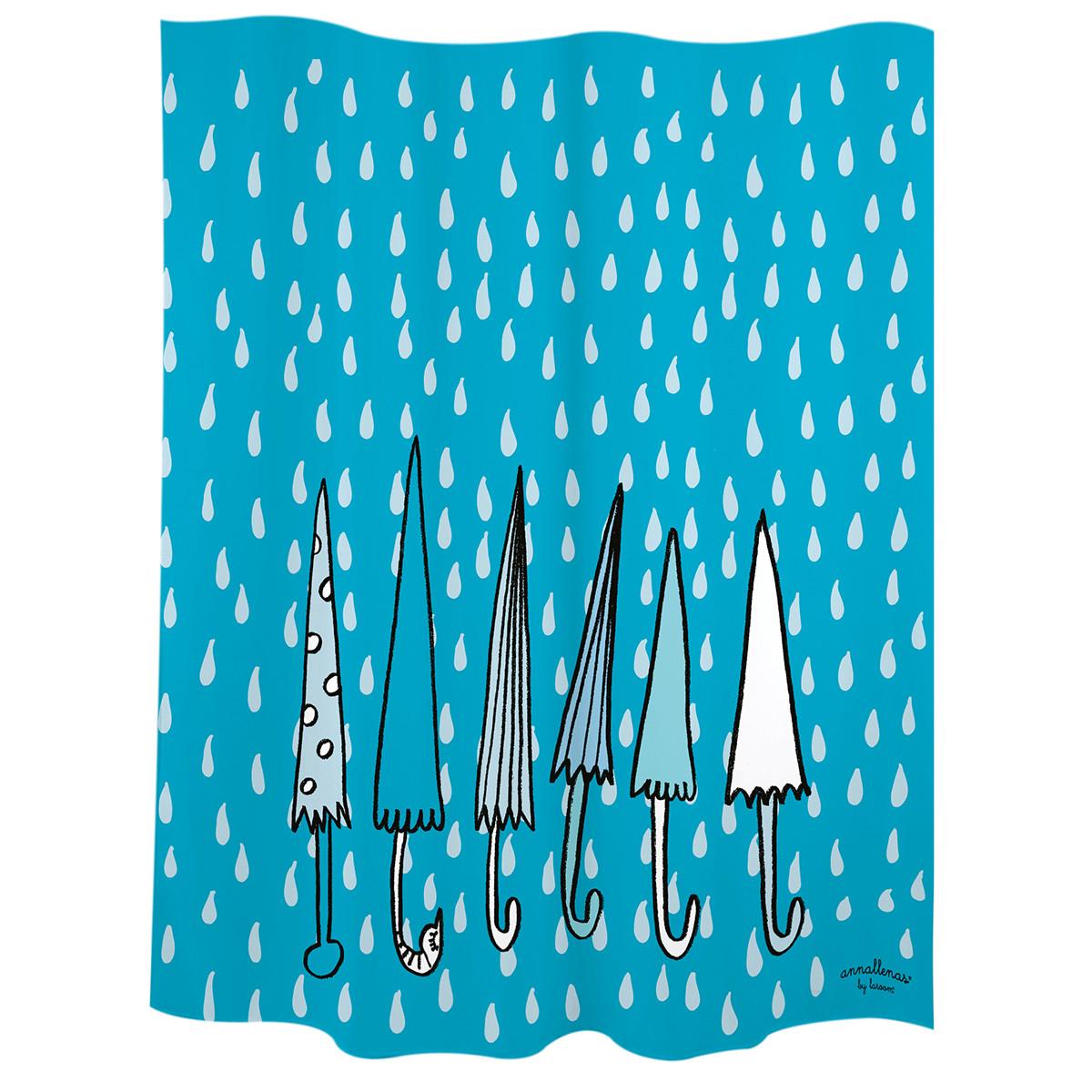 Douchegordijn | Paraplu's | Blauw