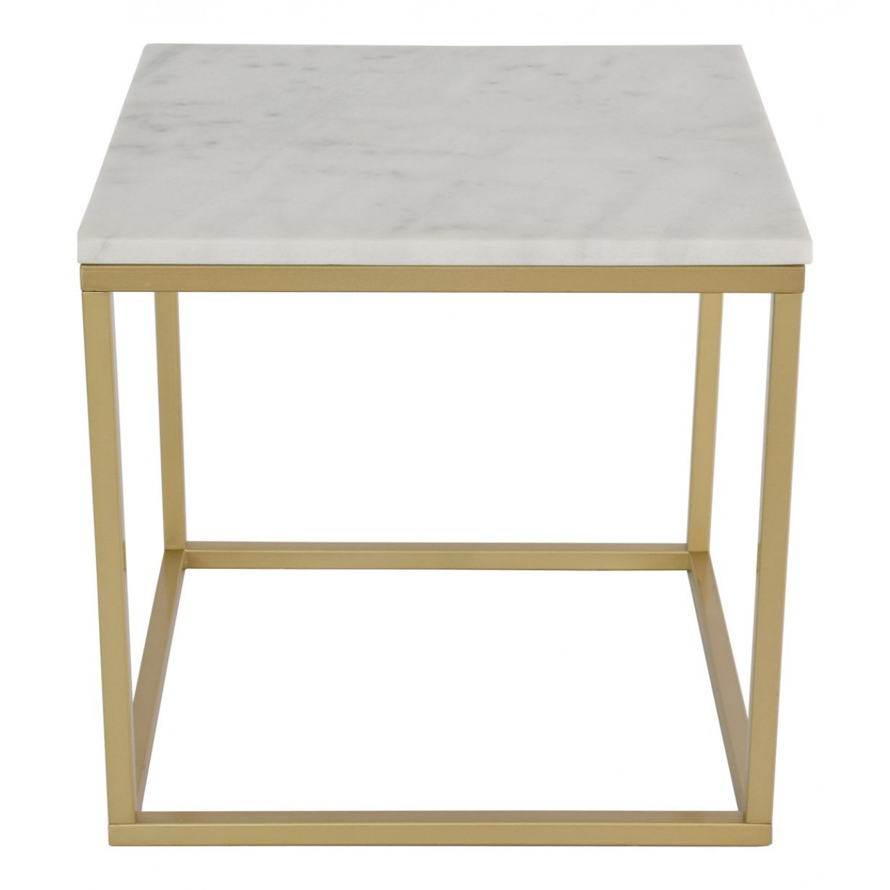 Marble Coffee Table Square 50 Accent | Gold