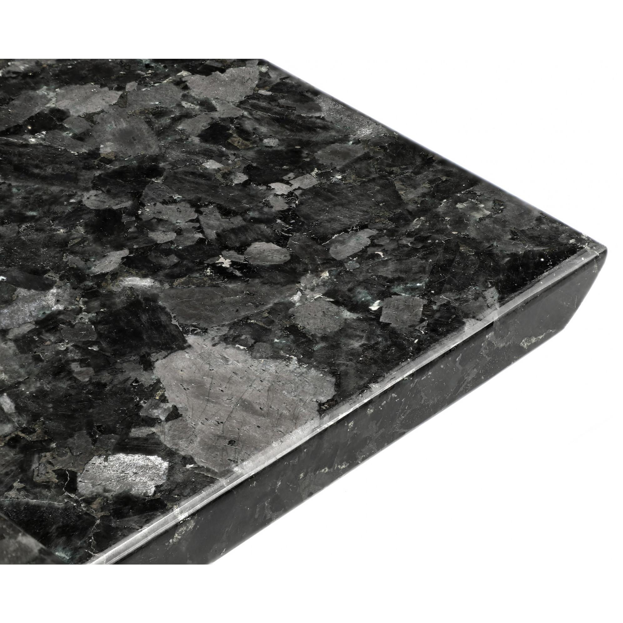 Schale Kristall-Labradorit 35 x 20 cm   Schwarz