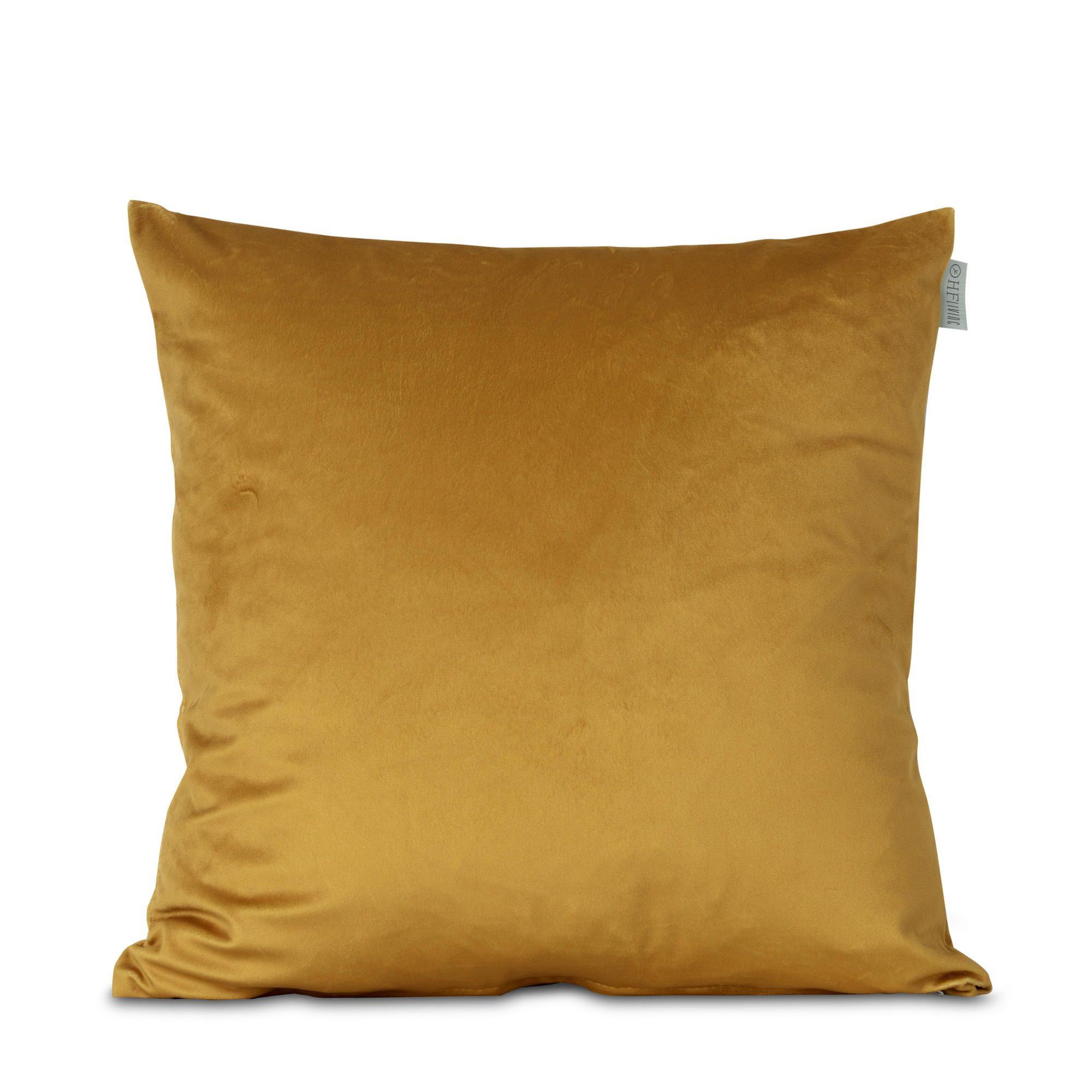Kussensloop Fluweel Geel | 100% Polyester