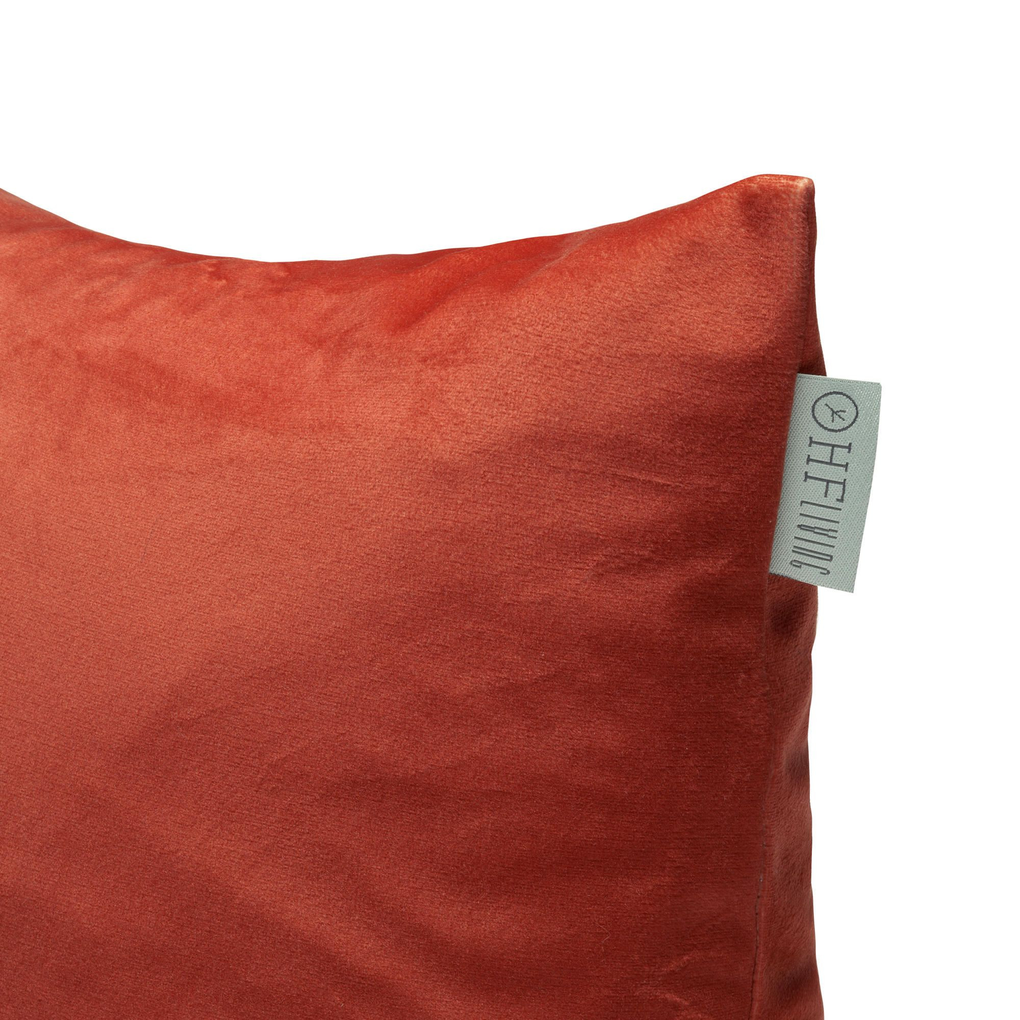 Kussensloop Fluweel Oranje | 100% Polyester