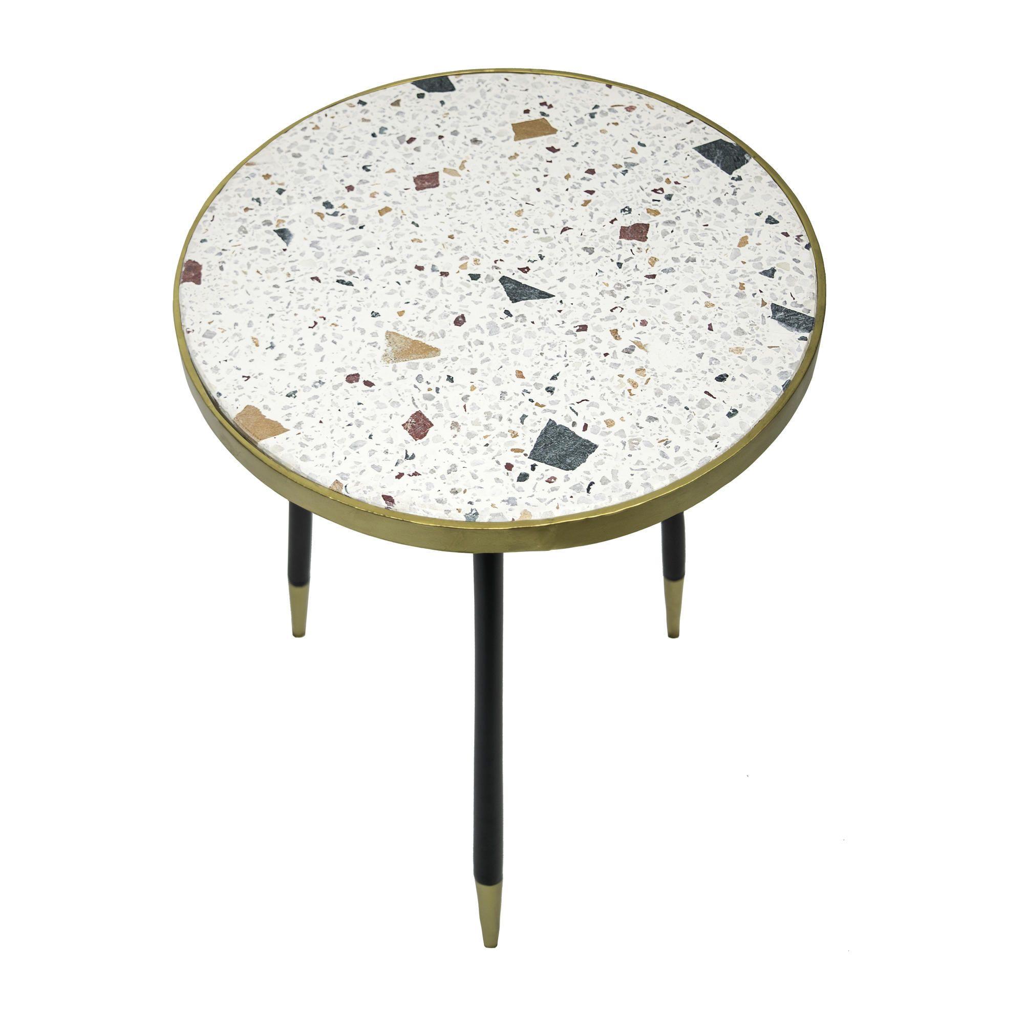 Genuine Side Table H 53 cm   Beige
