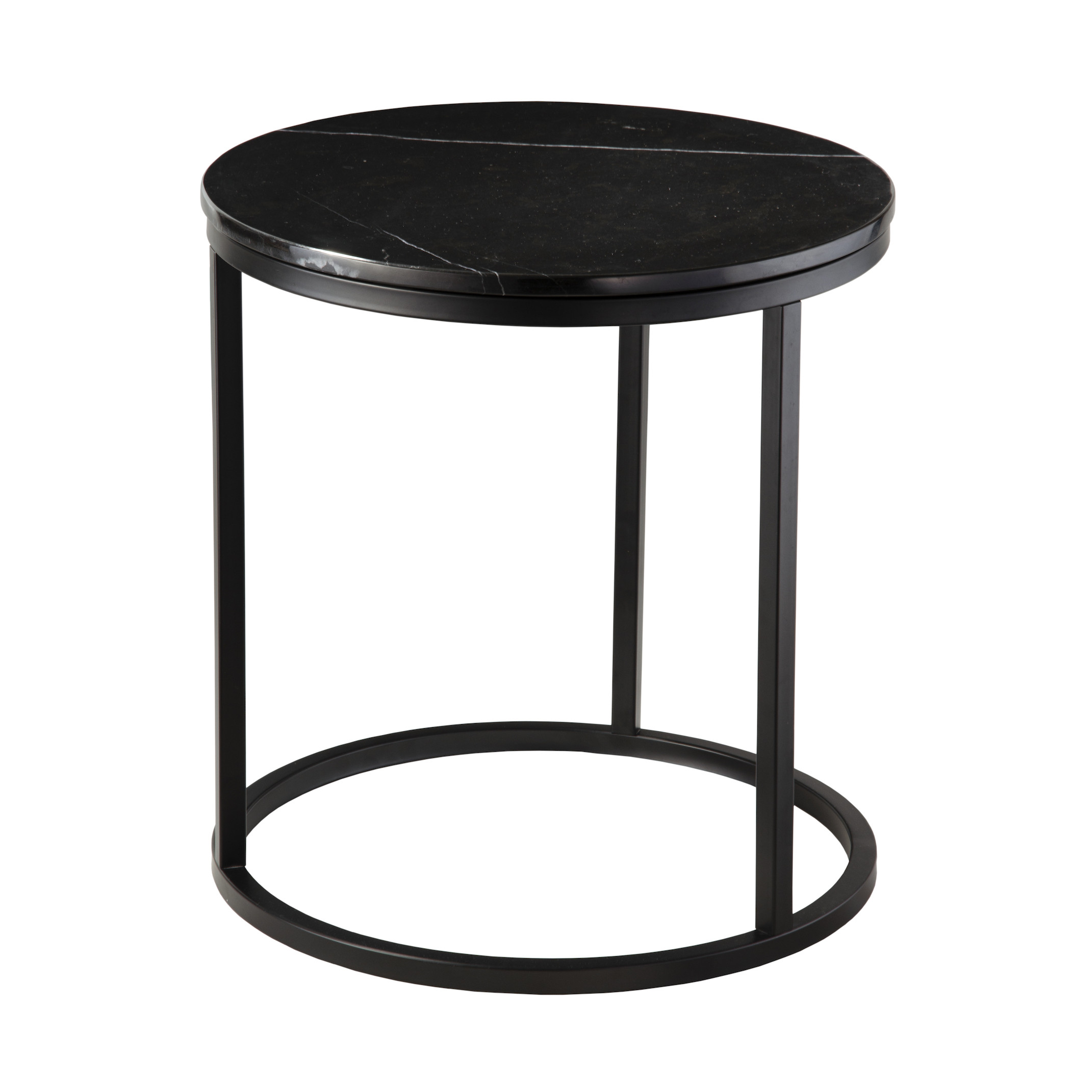 Side Table Accent Ø 50 cm | Black