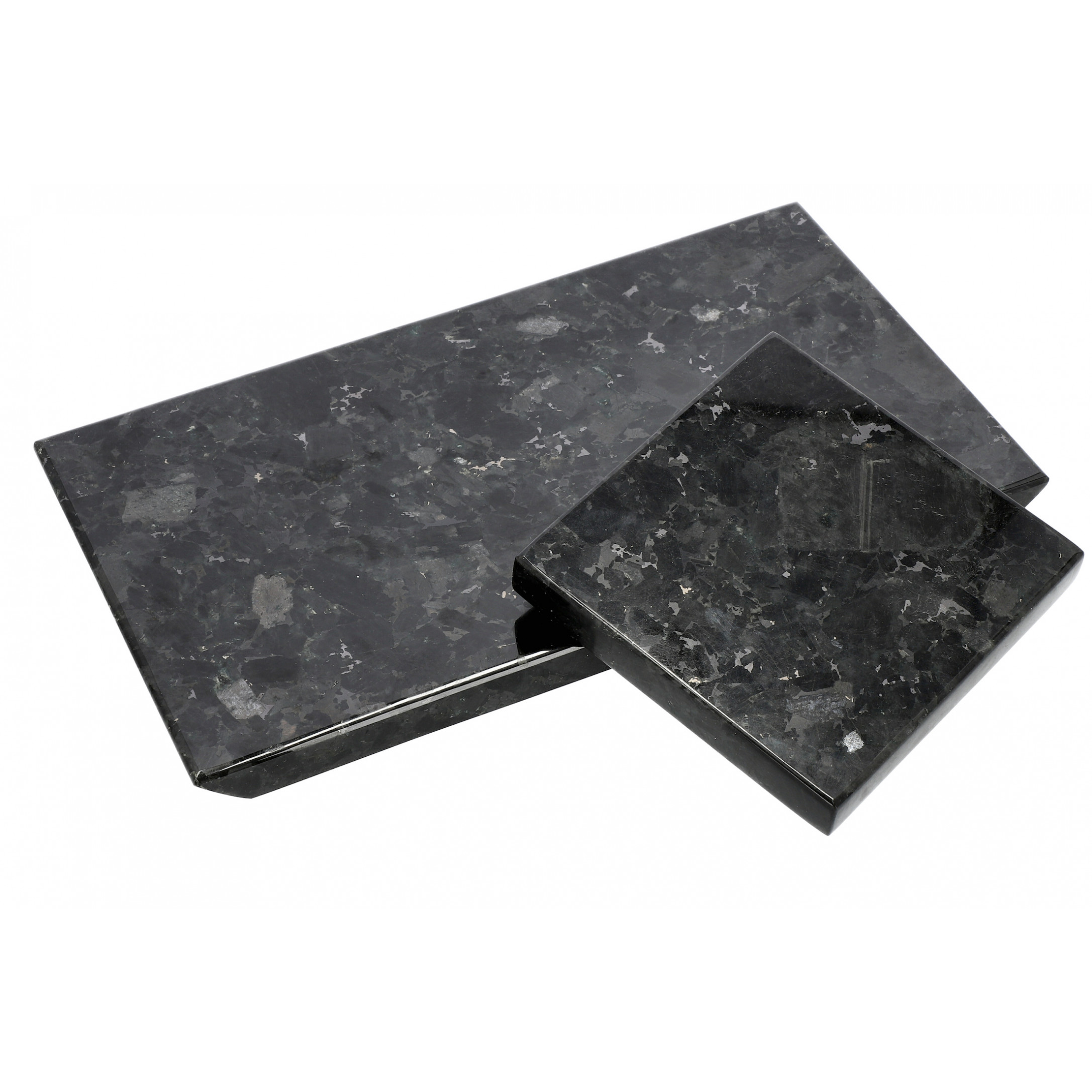 Tray Crystal Labradorite 15 x 15 cm   Black