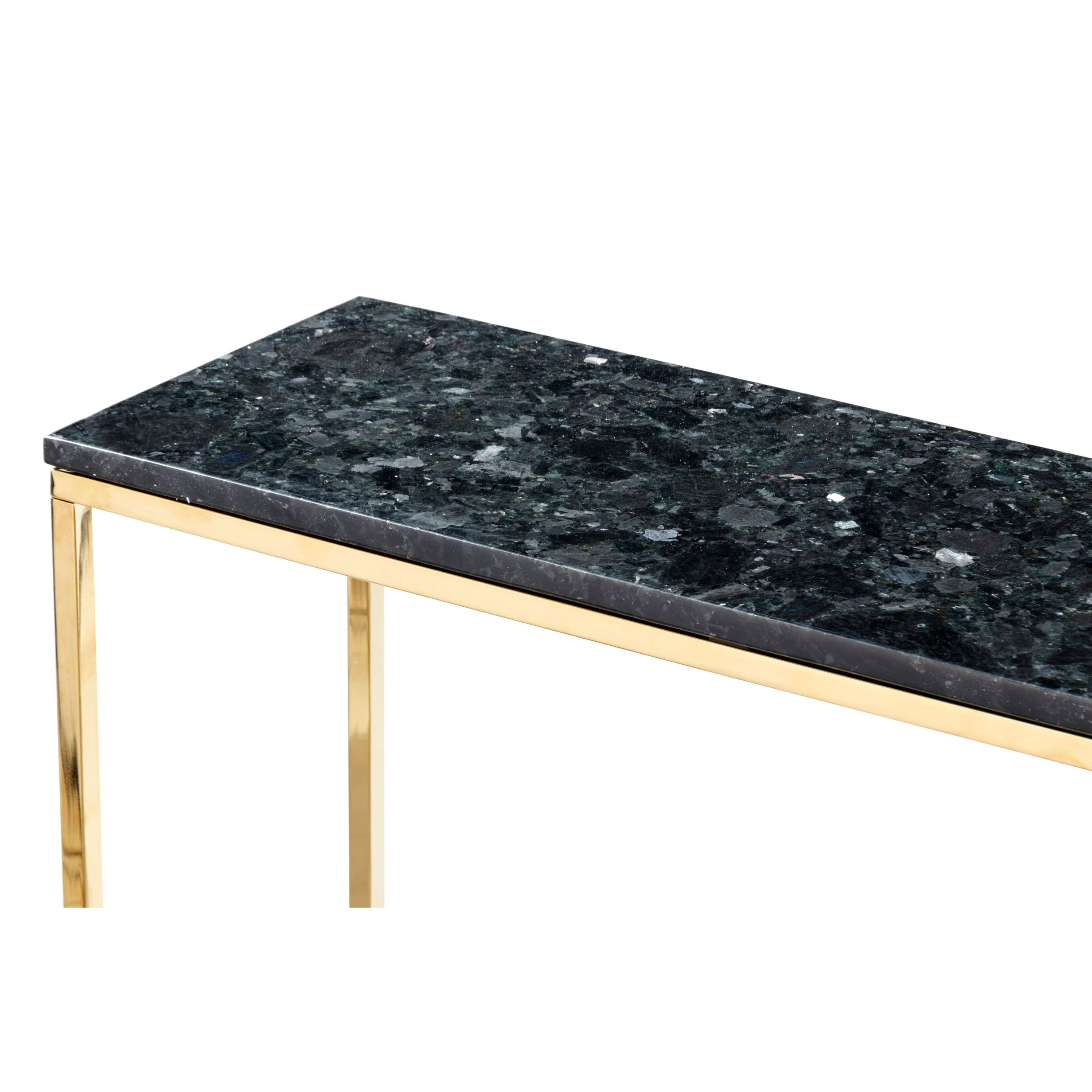 Console Accent Black Crystall | Black & Gold