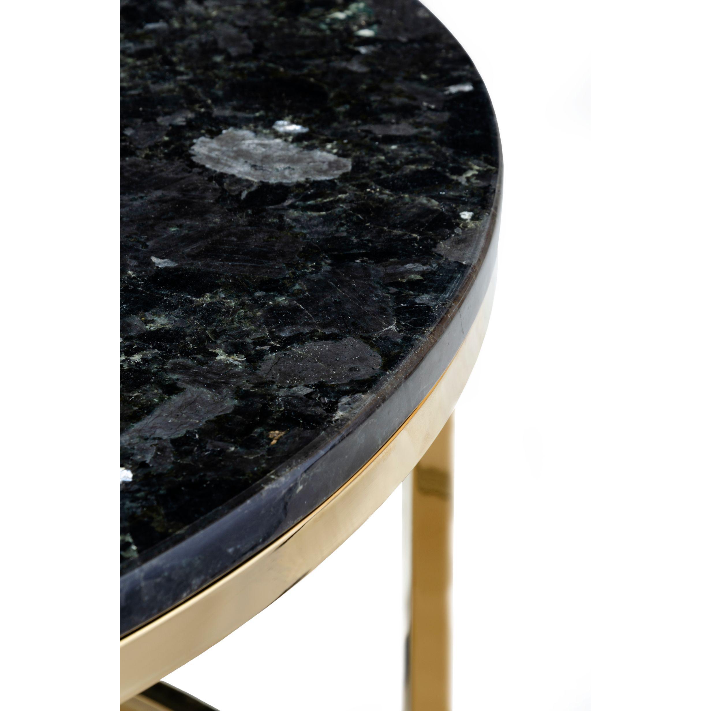 Beistelltisch Accent Black Crystall | Schwarz & Gold