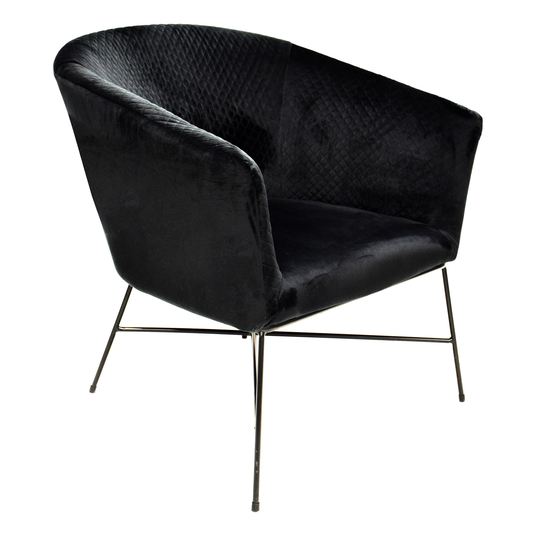 Lounge Chair Lady club   Black