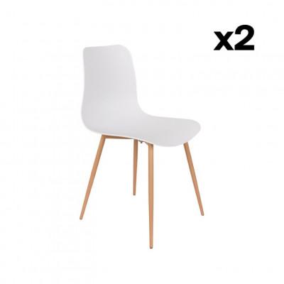 2-er Set Stühle Leon | Grau