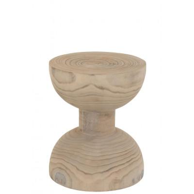 Hocker Hourglass Paulownia l White Wash