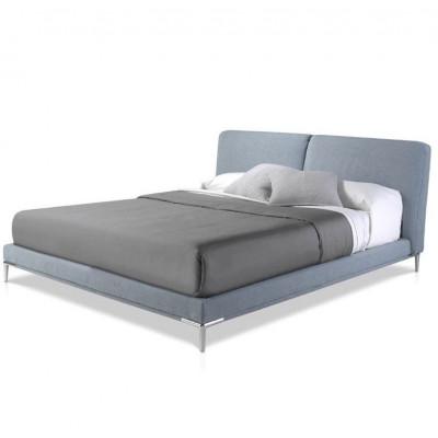 Upholstered Bed   Blue
