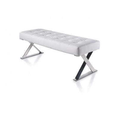 Upholstered Bench   Crossed Frame