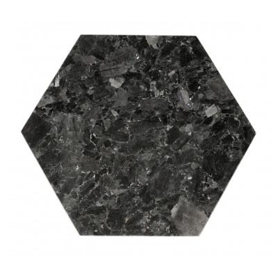 Schale Kristall-Labradorit 30 x 35 cm | Schwarz