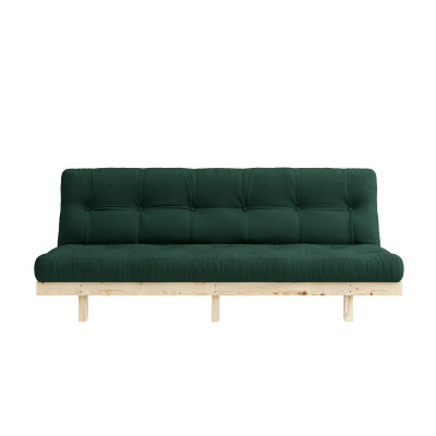 Sofa Bed Lean | Natural / Forest Green