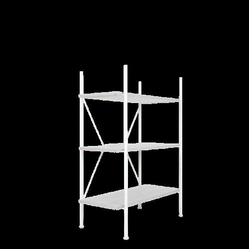 Lagerregalsystem Niedrig | Weiß/Weiß