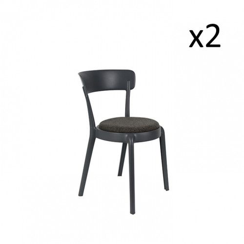 Dining Chair Hoppe   Set of 2   Comfy Dark Grey