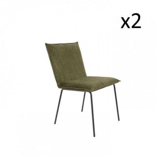 2er-Set Stuhl Floke   Olivgrün