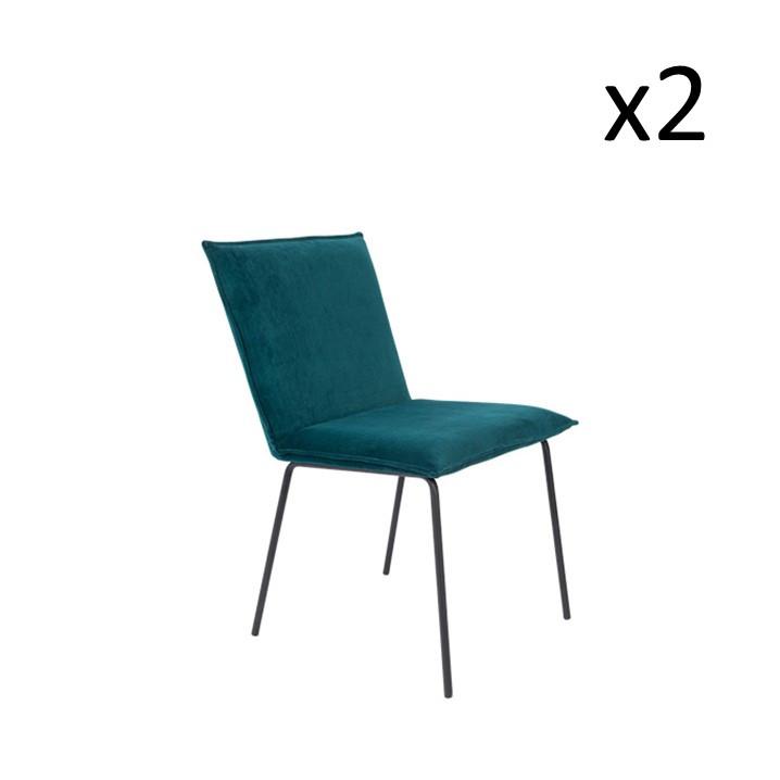 Chair Floke | Set of 2 | Petrol Blue