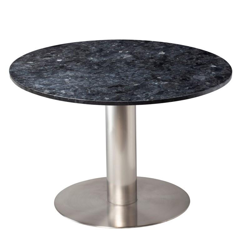 Esstisch Pepo | Schwarzer Kristall & Grauer Stahl