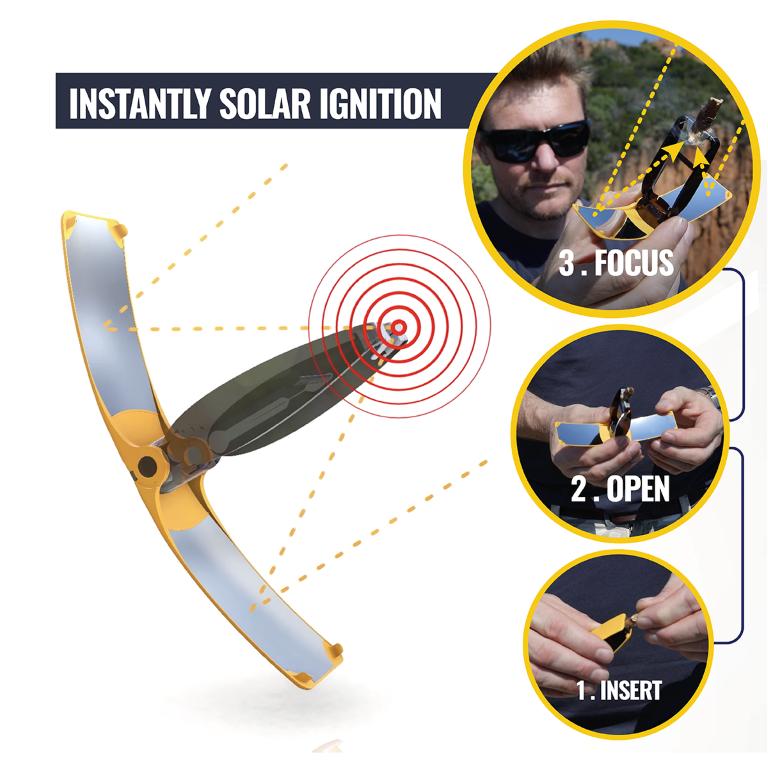 Solar-Feuerstarter Suncase Gear | Weiß